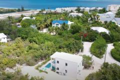 Gracehaven Villa from the air showing the sea very close by