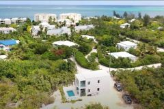 An image Gracehaven Villa with Grace Bay in the background