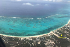 Grace Bay beach aerial view