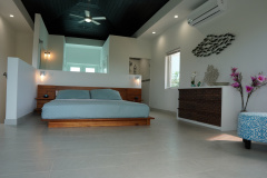 Vacation rental villa, Gracehaven, near Grace Bay beach has a large master bedroom and walk-in shower