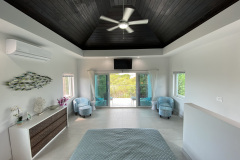 View of the master bedroom at Gracehaven Villas looking out to the balcony